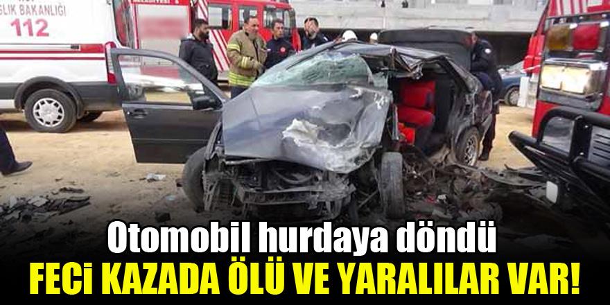 Otomobil hurdaya döndü! Feci kazada ölü ve yaralılar var 1