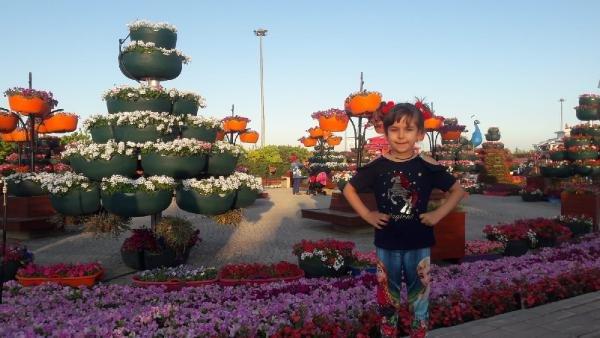Konya'da 500 bin bitkinin bulunduğu rengarenk bahçeye ziyaretçi akı 1