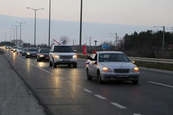 ''Milli İradeye Saygı Konvoyu'' Türkiye'de 20