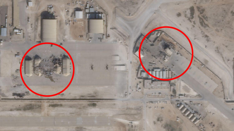 Büyük yalan ortaya çıktı! İran'ın vurduğu üslerin uydu fotoğrafları 1