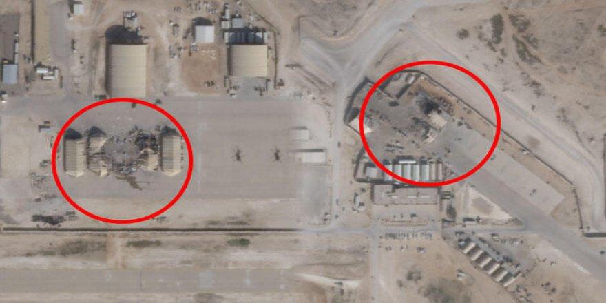 Büyük yalan ortaya çıktı! İran'ın vurduğu üslerin uydu fotoğrafları