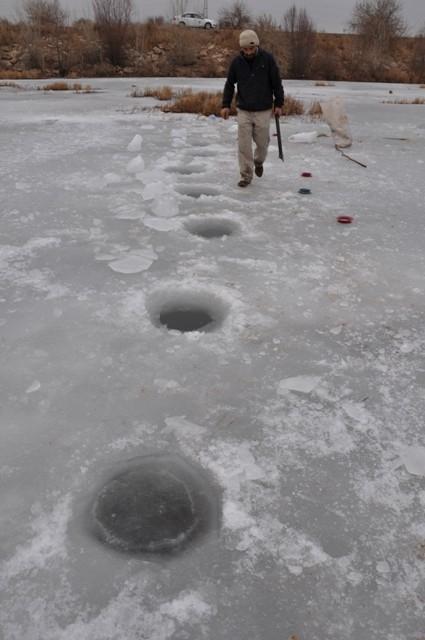 """Kızılırmak'ta """"Eskimo usulü"""" balık avı 1"""