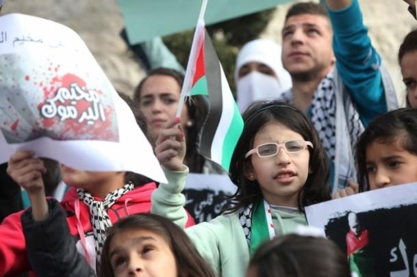 Yermuk kampındaki Filistinlilerle dayanışma gösterisi 1
