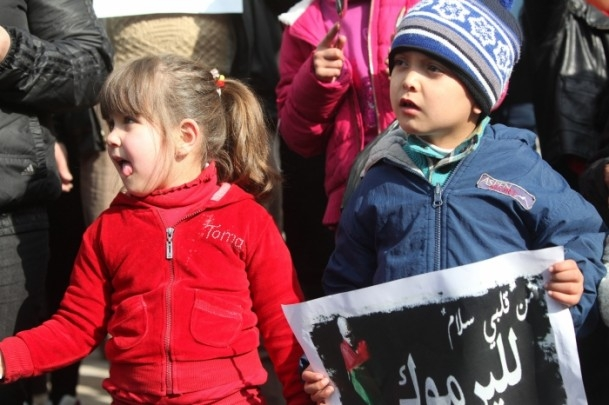 Yermuk kampındaki Filistinlilerle dayanışma gösterisi 3