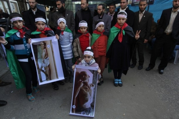 Yermuk kampındaki Filistinlilerle dayanışma gösterisi 5