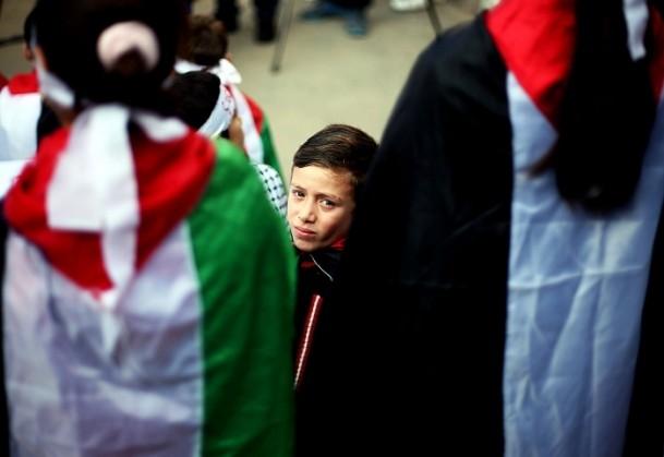 Yermuk kampındaki Filistinlilerle dayanışma gösterisi 7