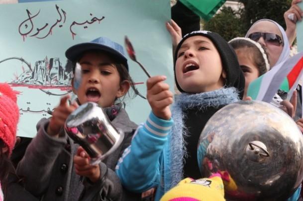 Yermuk kampındaki Filistinlilerle dayanışma gösterisi 9