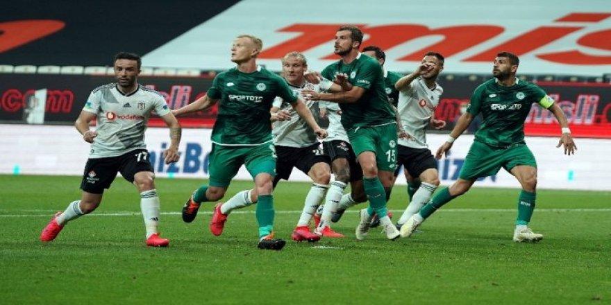 Beşiktaş-Konyaspor maçından kareler