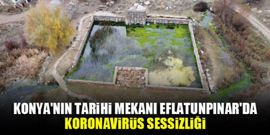 Konya'nın tarihi mekanı Eflatunpınar'da koronavirüs sessizliği