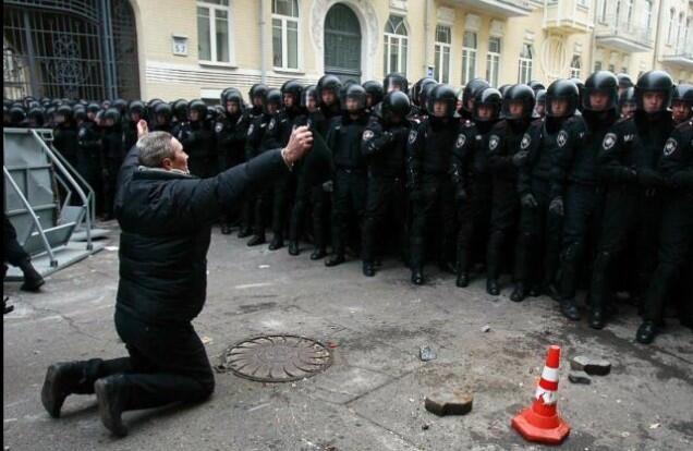 Almanya Polisi Göstericilere Canine Saldırdı 20