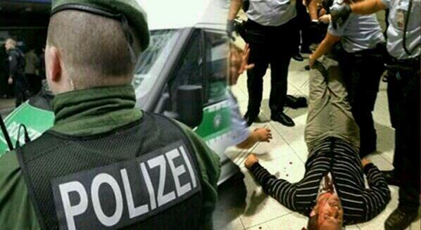 Almanya Polisi Göstericilere Canine Saldırdı 27