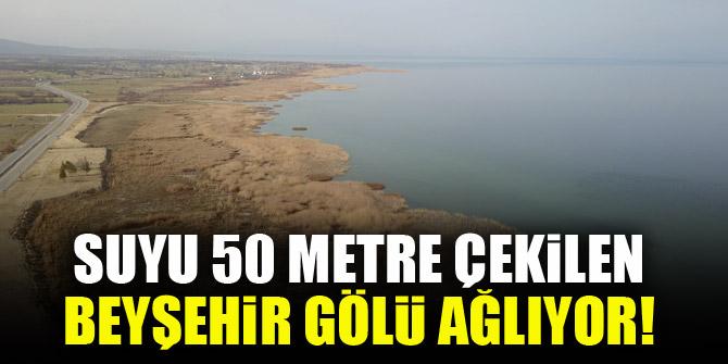 Suyu 50 metre çekilen Beyşehir Gölü ağlıyor! 1