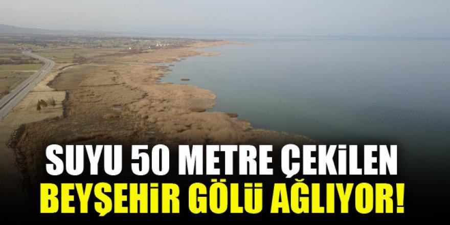 Suyu 50 metre çekilen Beyşehir Gölü ağlıyor!