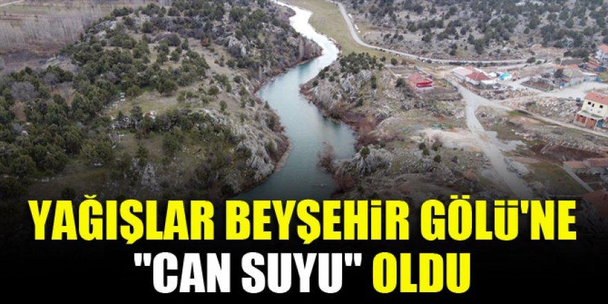 """Yağışlar Beyşehir Gölü'ne """"can suyu"""" oldu"""