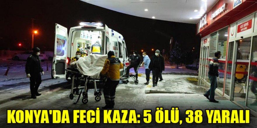 Konya'da korkunç kaza! Yolcu otobüsü şarampole devrildi... 5 ölü, 38 yaralı