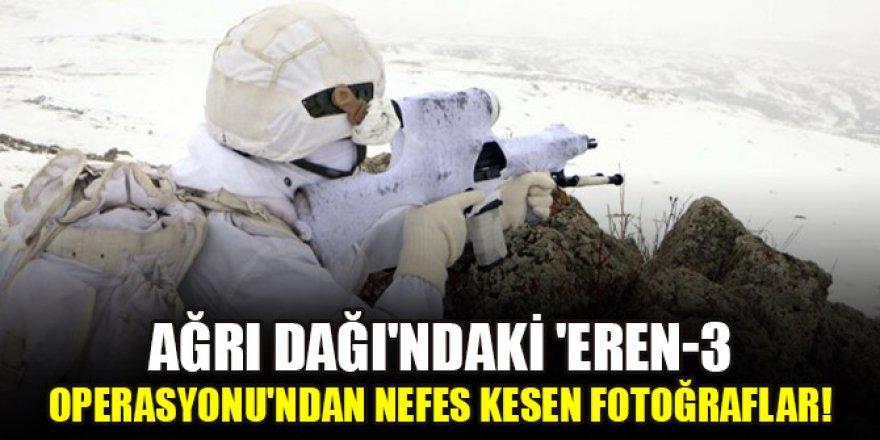 Ağrı Dağı'ndaki 'Eren-3 Operasyonu'ndan nefes kesen fotoğraflar: Eren Bülbül'e selam olsun