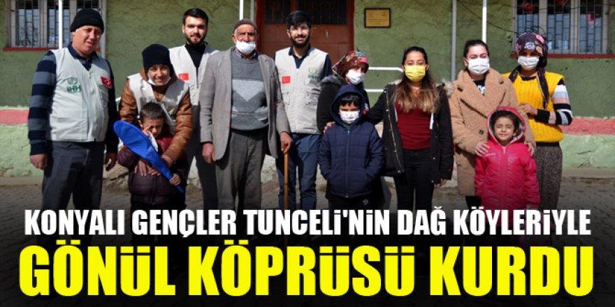 Konyalı gençler Tunceli'de gönül köprüsü kurdu