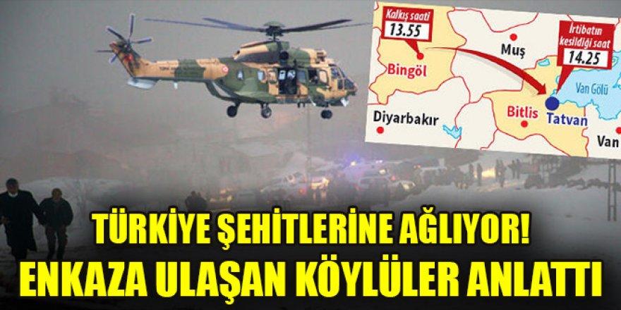 Türkiye şehitlerine ağlıyor! Biri korgeneral 11 şehit... Enkaza ulaşan köylüler anlattı