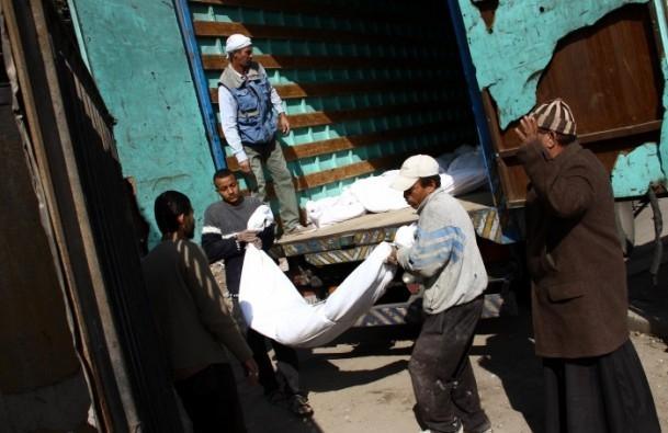 """Mısır'da """"kimliksiz"""" kurbanlar toprağa verildi 1"""