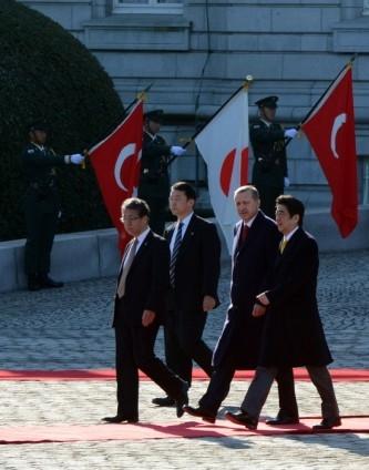 Başbakan Erdoğan Japonya'da askeri törenle karşılandı 1