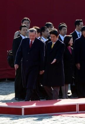 Başbakan Erdoğan Japonya'da askeri törenle karşılandı 15