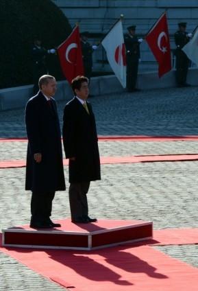 Başbakan Erdoğan Japonya'da askeri törenle karşılandı 2