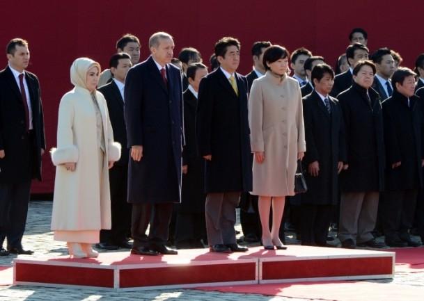 Başbakan Erdoğan Japonya'da askeri törenle karşılandı 20