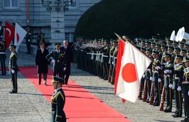 Başbakan Erdoğan Japonya'da askeri törenle karşılandı 7