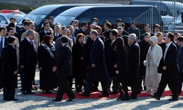 Başbakan Erdoğan Japonya'da askeri törenle karşılandı 9