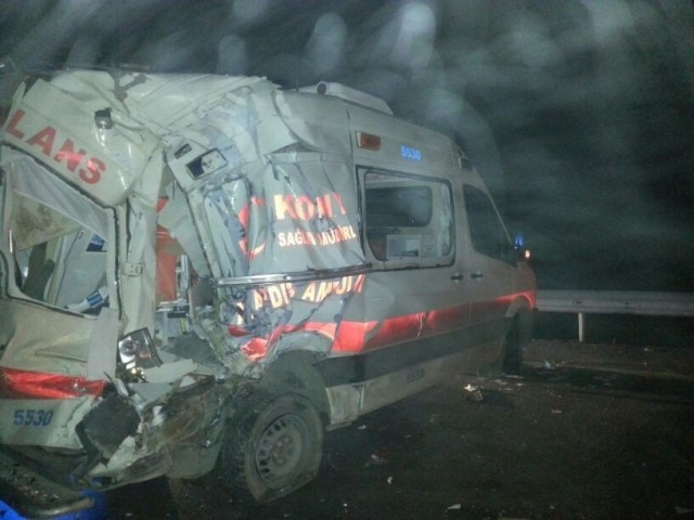 Kulu Makası'nda zincirleme trafik kazası 5
