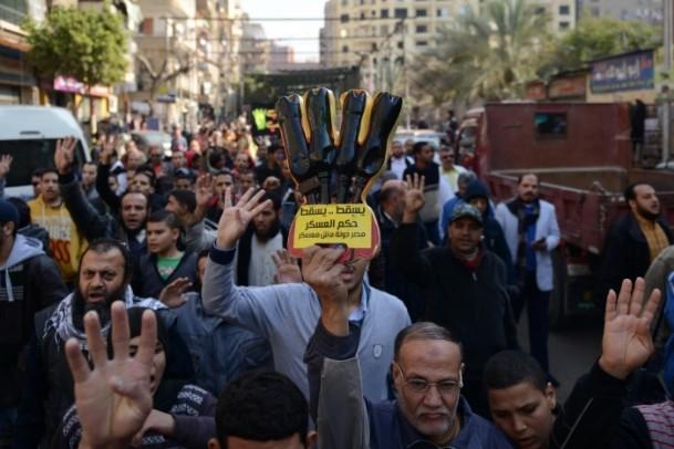 """Mısır'da """"Kanlı Referandumun İptali"""" gösterileri 1"""