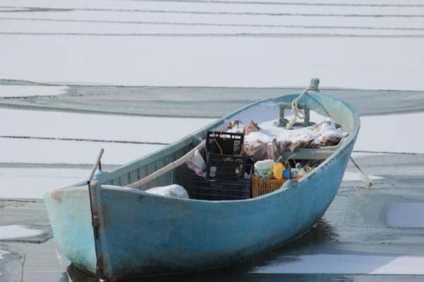 Dondurucu soğuğa rağmen avlanıyorlar 10