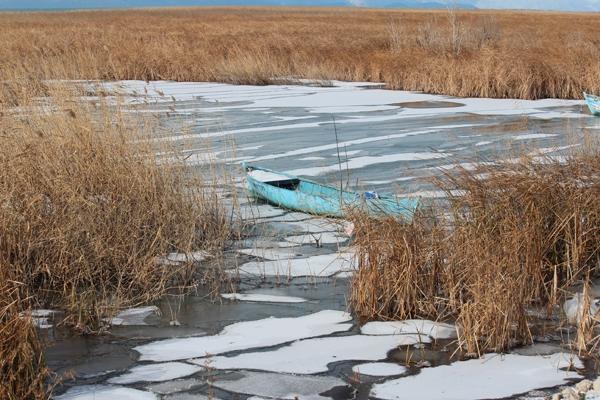 Dondurucu soğuğa rağmen avlanıyorlar 13