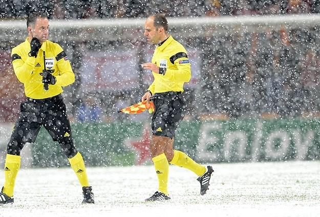 Galatasaray-Juventus maçına kar engeli 5