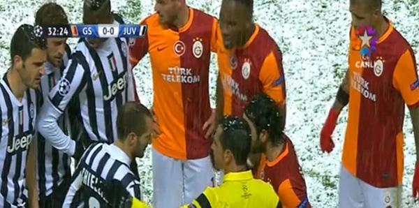 Galatasaray-Juventus maçına kar engeli 7
