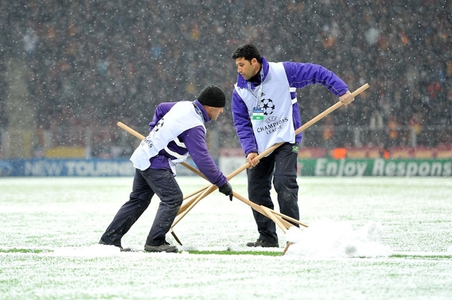 Galatasaray-Juventus maçına kar engeli 8