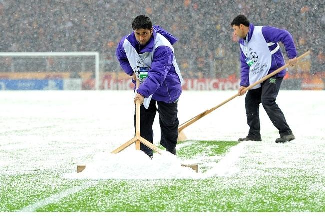 Galatasaray-Juventus maçına kar engeli 9