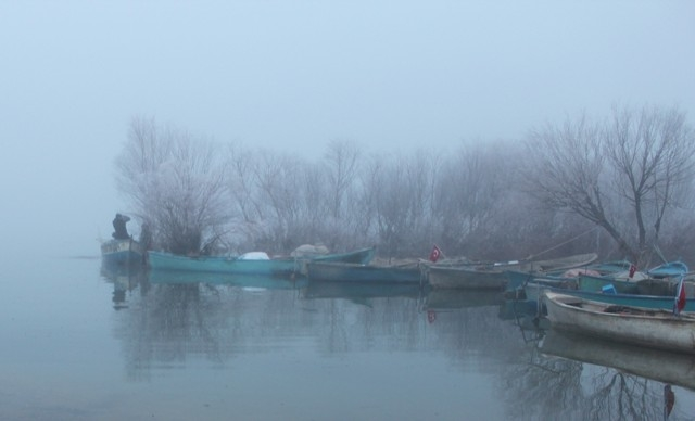 Beyşehirli balıkçıları şimdi de sisli hava vurdu 4
