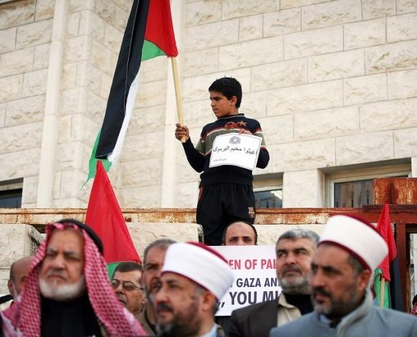 Yermuk Kampı'ndaki insani dram protesto edildi 1