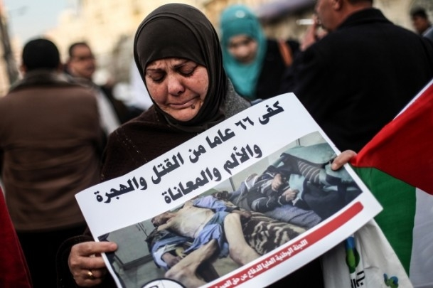 Yermuk Kampı'ndaki insani dram protesto edildi 12