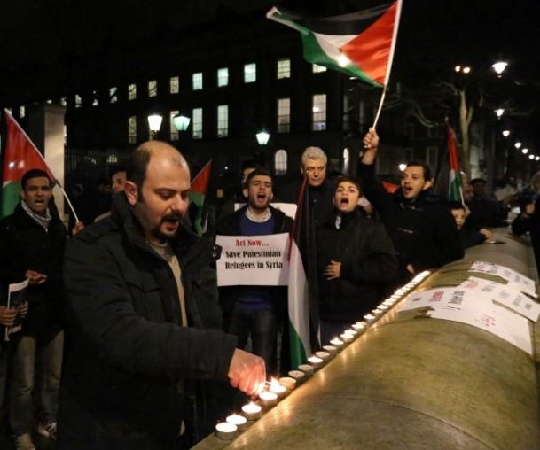 Yermuk Kampı'ndaki insani dram protesto edildi 13