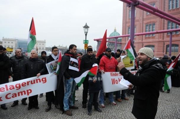 Yermuk Kampı'ndaki insani dram protesto edildi 14