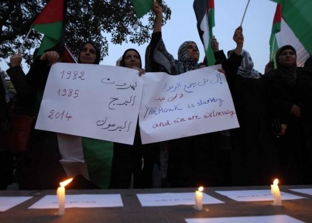 Yermuk Kampı'ndaki insani dram protesto edildi 19