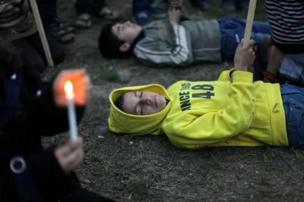 Yermuk Kampı'ndaki insani dram protesto edildi 3