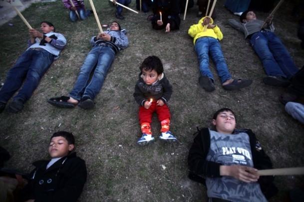Yermuk Kampı'ndaki insani dram protesto edildi 5