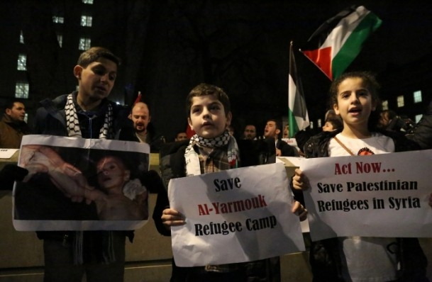 Yermuk Kampı'ndaki insani dram protesto edildi 7