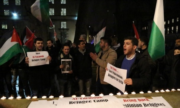 Yermuk Kampı'ndaki insani dram protesto edildi 8