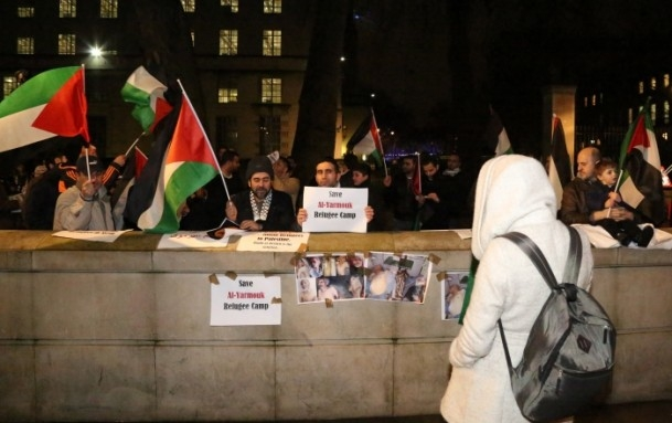 Yermuk Kampı'ndaki insani dram protesto edildi 9