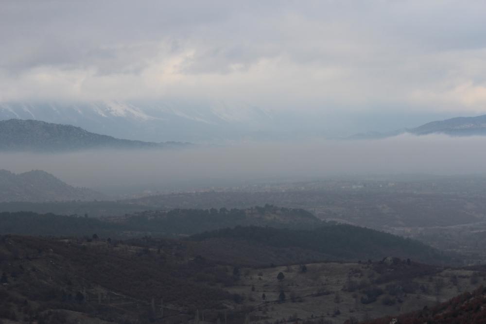 Beyşehir'de sis 1