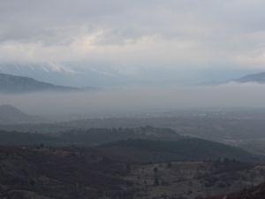 Beyşehir'de sis